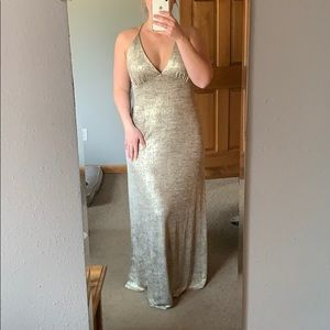Lulu's gold and black dress